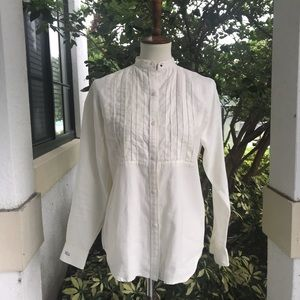 Ralph Lauren long sleeve Pin tuck linen shirt